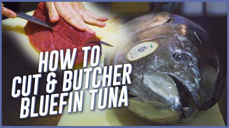 Chefs Show How To Cut and Butcher Bluefin Tuna (Hon-Maguro) For Sashimi
