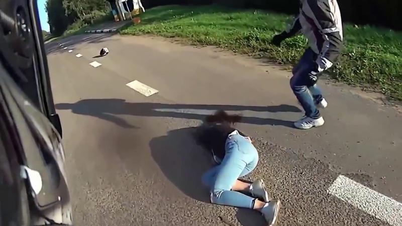 Жёсткие мото ДТП Последний хруст Cutting motorcycle accidents 1