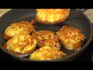Бутерброды с луком -Раз-два-три- Бюджетная закуска за 5 минут! Sandwiches with onions