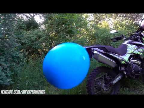 Можно ли надуть воздушные шарики при помощи выхлопных газов мотоцикла