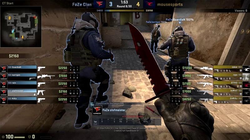 CS:GO POV Demo FaZe olofmeister (38/24) vs Mousesports (de_mirage)