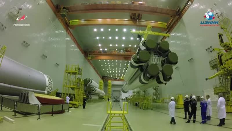 PKH Протон-М с КА Спектр-РГ перегружен на транспортно-установочный агрегат