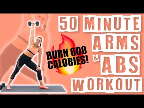50 Minute Arms and Abs Workout 🔥Burn 600 Calories!🔥