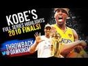 Kobe Bryant Full 2010 NBA Finals Highlights vs Celtics - 28.6 PPG, 5th CHIP! | FreeDawkins