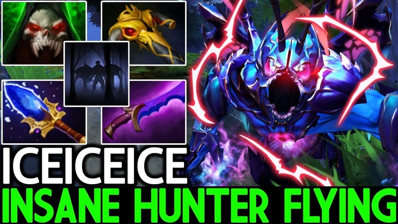 Iceiceice [Night Stalker] Insane Hunter Flying Cancer Gameplay 7.20 Dota 2