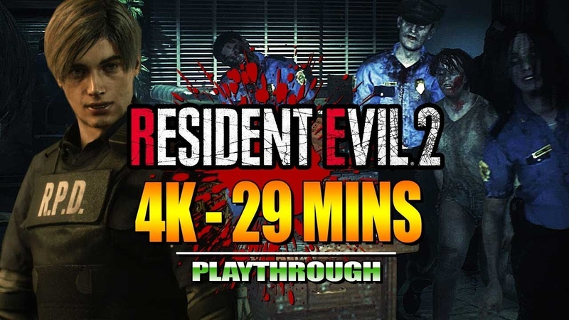 RESIDENT EVIL 2 Remake - Demo in 4K29 Minute Playthrough wMaximilian