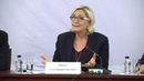 Conférence de presse de Marine Le Pen à Sofia Bulgarie 16 11 2018