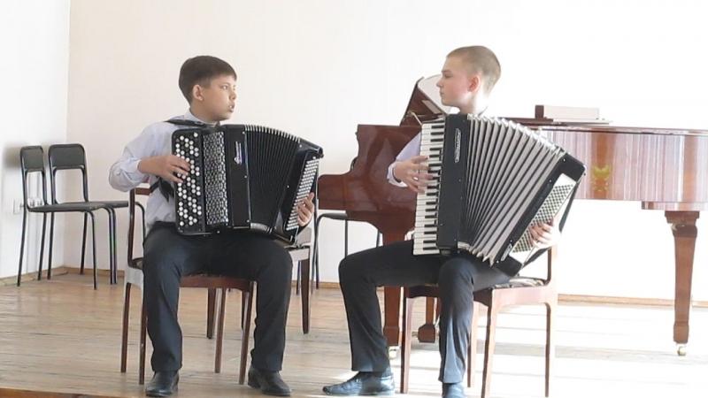 Савка Андрей и Бурханов Павел Городской конкурс ансамблей 2015 Гран-При