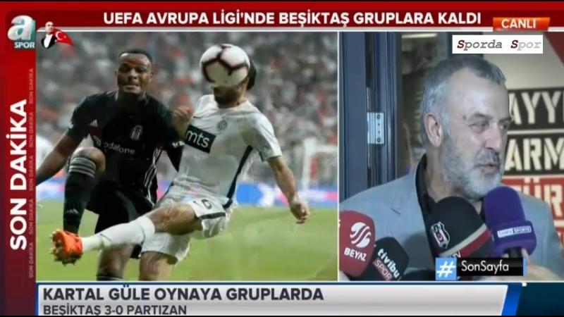 """Beşiktaş - Partizan 3-0 Maç Sonu """" Ahmet Ürkmezgil """" Açıklamaları"""