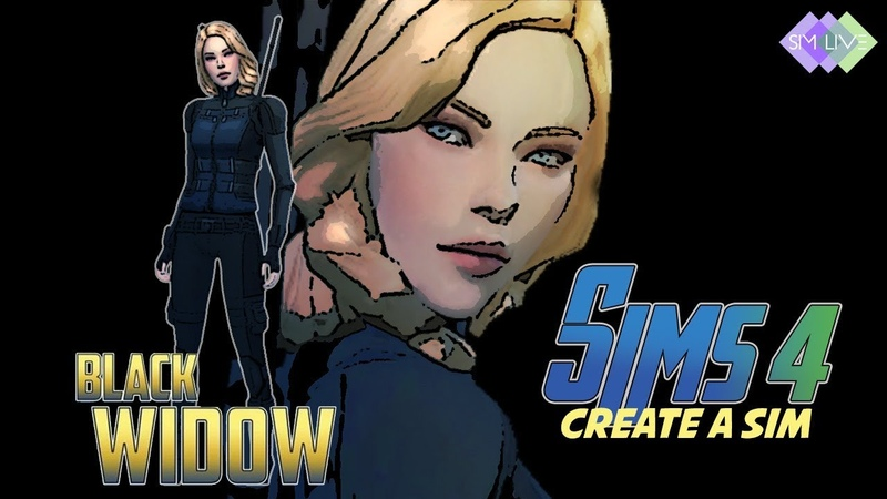 Sim Live, Create a Sim Scarlett Johansson as Black Widow, Sims 4, Maxis Match