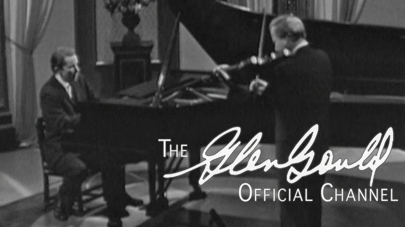 Glenn Gould Yehudi Menuhin Bach Sonata No 4 in C minor OFFICIAL