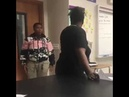 Teenager close-fist punches teacher square in the jaw for getting smart with him.