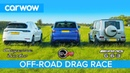 Mercedes-AMG G63 v Porsche Cayenne Turbo v Range Rover SVR: OFF-ROAD DRAG RACE ON TRACK RACE