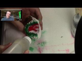 #22 attempts szara dental lab's watermelon design retainer. изготовление ретейнера. ортодонтия.