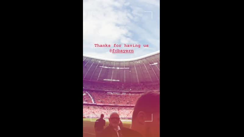 Gustav Schäfer Instagram Stories (18.05.2019): Спасибо за прием, ФК Бавария!