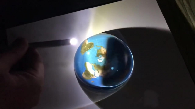 Flat Earth - Gleason AE Map With Dome Glass