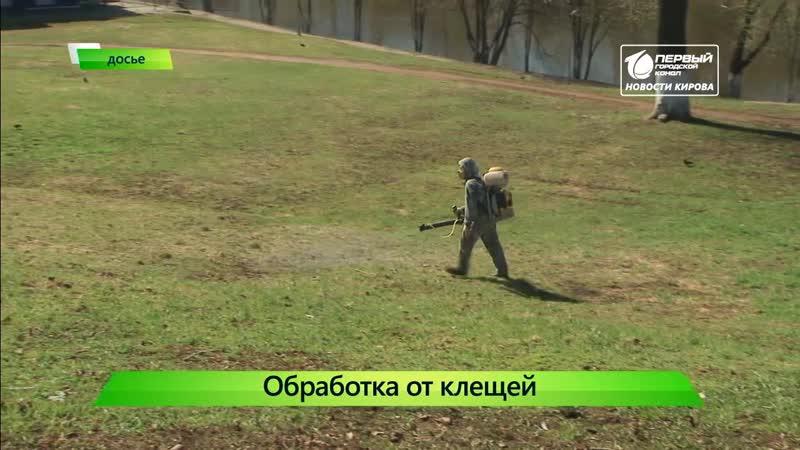 Обработка от клещей. Новости Кирова 17.04.2019