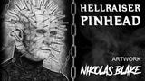 Pinhead (Hellraiser) Graphite pencil Drawing | by Nikolas Blake