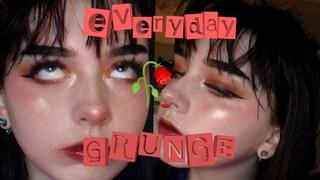 my everyday grunge aesthetic makeup 🥀