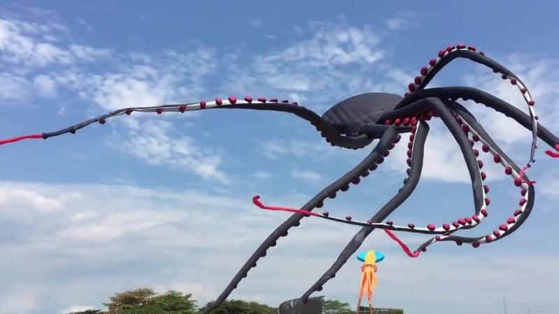 Огромный воздушный змей в виде осьминога