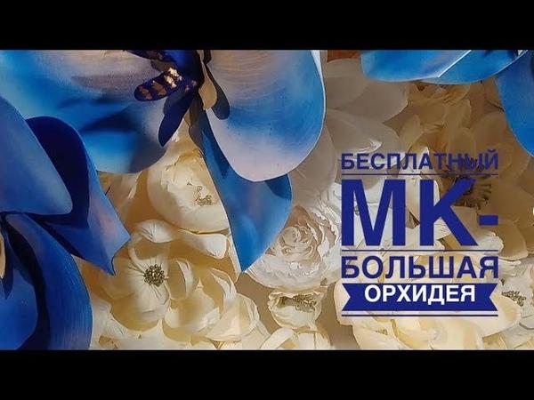 Большая Ростовая Орхидея. Мастер класс. Орхидея из фоамирна.