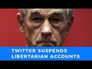 Twitter suspends Ron Paul Institute and Antiwar Directors' accounts