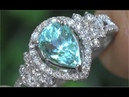GIA Certified VVS Clarity Natural Paraiba Tourmaline Diamond 14k White Gold Estate Ring - C242