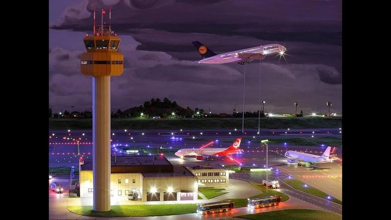 Самая большая в мире модель аэропорта В городе Гамбург (Германия) Miniatur Wunderland.