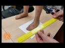 Измеряем детскую ножку с помощью контура