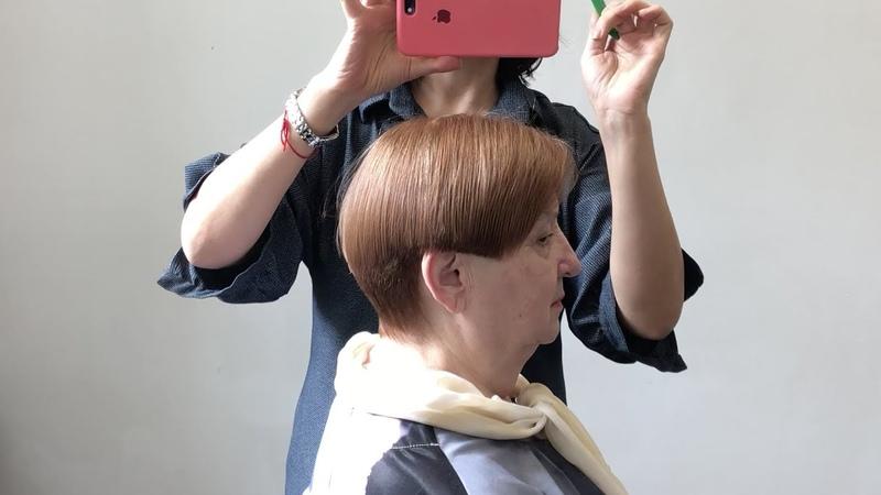 Обучающее видео для парикмахеров Короткая круглая градуировка