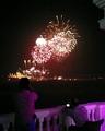 Celebratory fireworks seen outside the Umaid Bhawan Palace as Priyanka and Nick