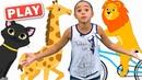 КУКУТИКИ PLAY - На Море - Детская песенка - Поем с Даниэлой и оградываем загадки про животных