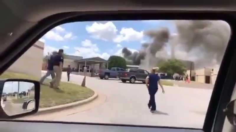 Huge EXPLOSION at Texas Hospital - 'building collapse' leaves one dead and a dozen injured