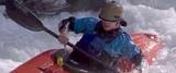 Pat Keller kayaking the Green River blindfolded