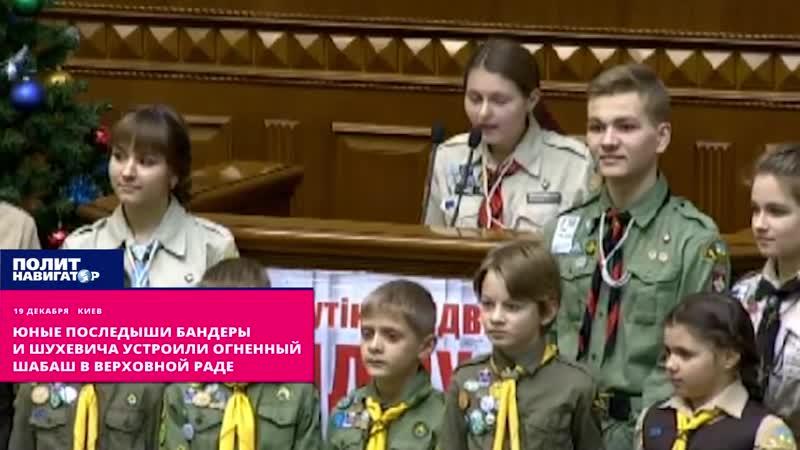 Юные последыши Бандеры и Шухевича устроили огненный шабаш в Верховной Раде