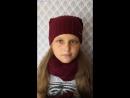 Комплект шапка-бини, снуд в два оборота и рукавички