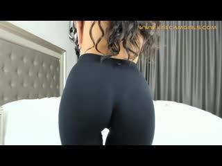 Big ass pov. close up ass in leggings. spandex.