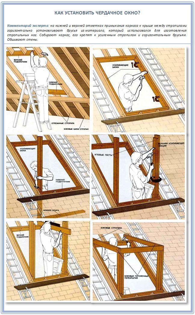 Слуховые деревянные окна