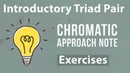 Introductory Triad Pair Chromatic Approach Note exercises