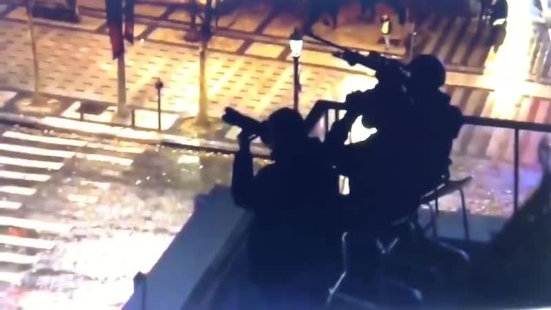 Les tireurs d'élites de sortis le 1er Décembre à l'Arc de Triomphe