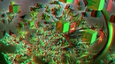 World Of Cubix 3D anaglyph fractal animation in HD