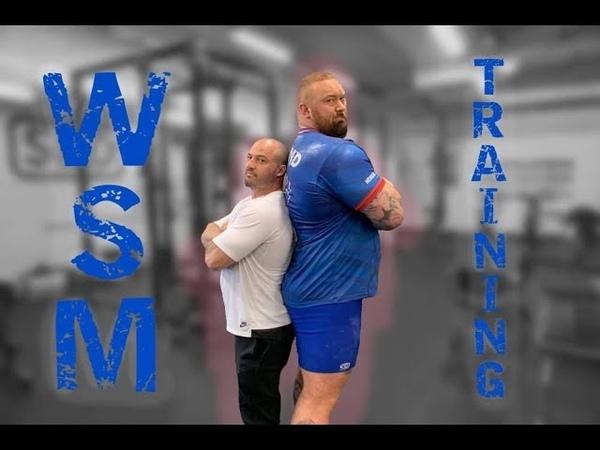 Hafthor Bjornsson | Squats, Yoke, Farmers Walk and Grip Training
