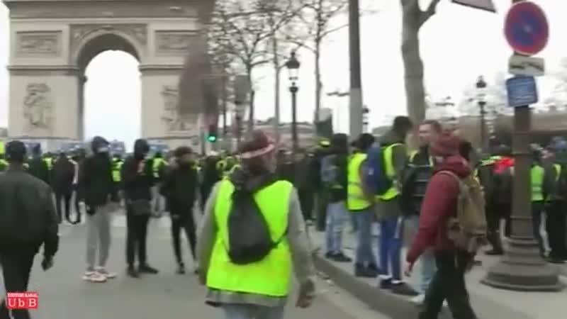 -Gelbwesten in Paris-- Ausschreitungen gehen weiter- Macron versteckt sich -08-12-2018-