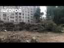 Спиленные деревья в Канищево