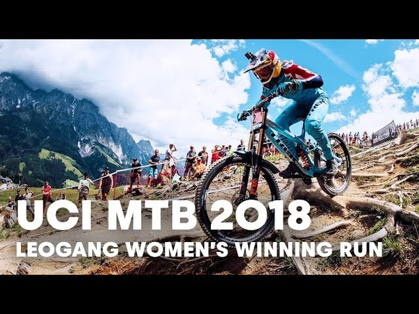Who won the women's downhill final at Leogang, Austria? | UCI MTB 2018