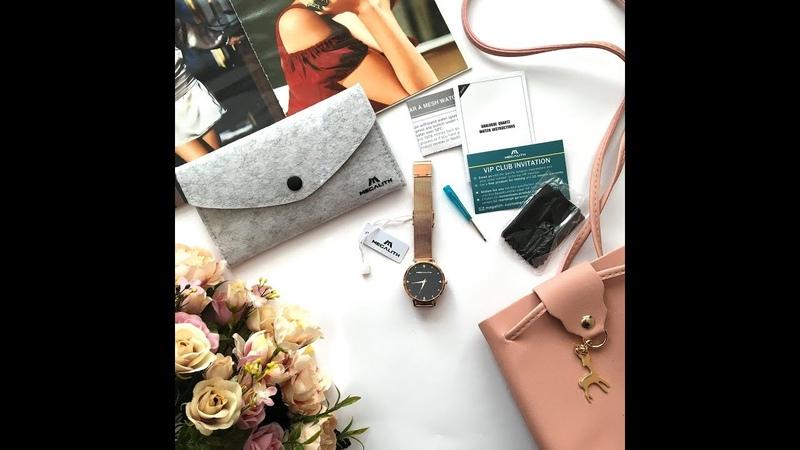 Женские наручные часы MEGALITH с красивым циферблатом с Алиэкспресс покупки с Aliexpress