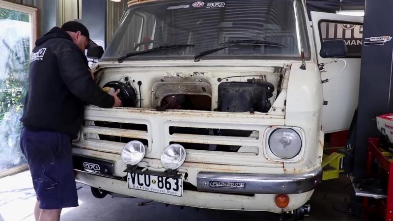Ford Barra 4.0л турбо в старый фургон Bedford Часть 11 BMIRussian