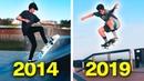 MY 5 YEARS OF SKATEBOARDING PROGRESSION!