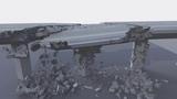 Cinema 4D bridge destruction + Breakdown (R19 Fracture Voronoi R&ampD) Redshift