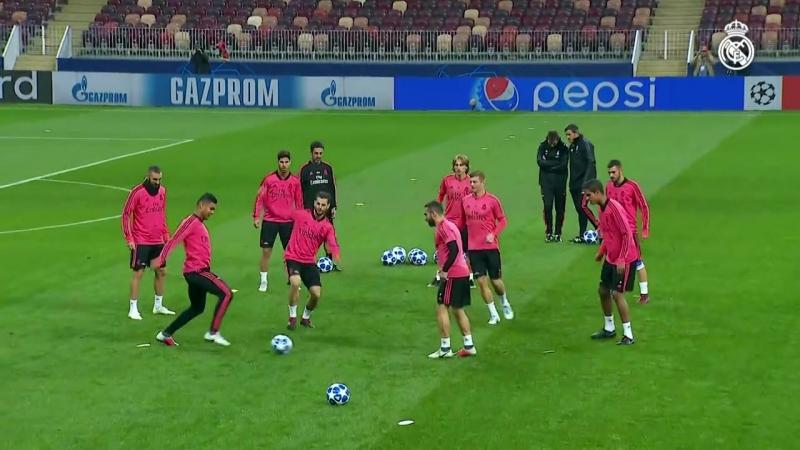 El Real Madrid se entrenó en el estadio Luzhniki 01 10 18